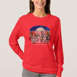 Christmas Cartoon Moon Dogs Howl T Shirt