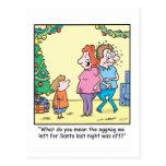 Christmas Cartoon Off Eggnog Postcard