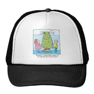 Christmas Cartoon Oversized Tree Trucker Hat