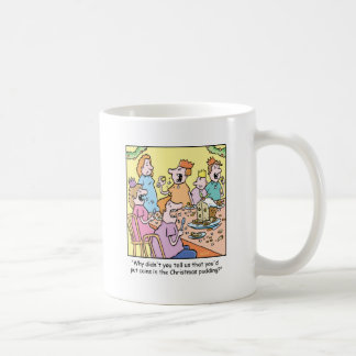 Christmas Cartoon Pudding Classic White Coffee Mug