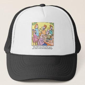 Christmas Cartoon Pudding Trucker Hat