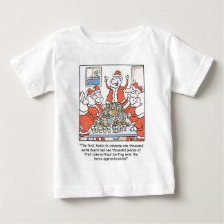 Christmas Cartoon Santa Apprenticeship Baby T-Shirt
