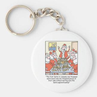 Christmas Cartoon Santa Apprenticeship Key Chain