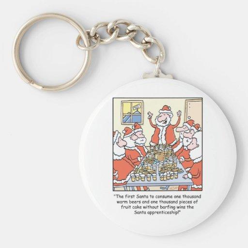 Christmas Cartoon Santa Apprenticeship Keychains