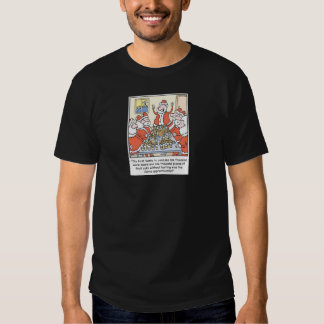 Christmas Cartoon Santa Apprenticeship T-Shirt