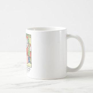 Christmas Cartoon Santa Claus Receipts Coffee Mug