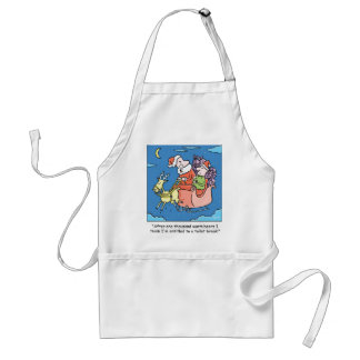 Christmas Cartoon Santa Needs A Break Adult Apron