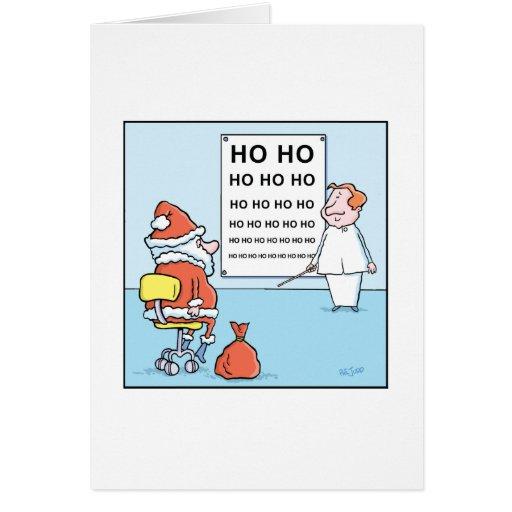 Christmas Cartoon Santa's Eye Test Cards