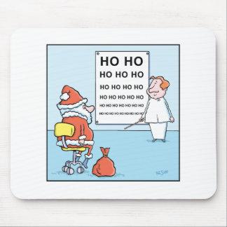 Christmas Cartoon  Santa's Eye Test Mouse Pad
