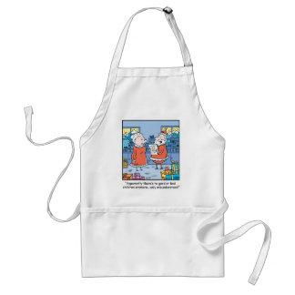 Christmas Cartoon Santas Good and Bad List Adult Apron