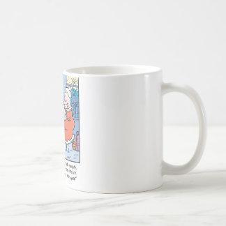 Christmas Cartoon Santa's Good and Bad list. Coffee Mug