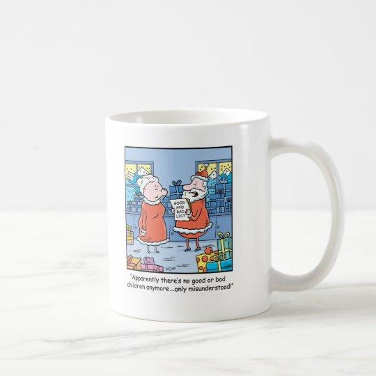Christmas Cartoon Santas Good and Bad List Coffee Mug
