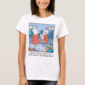 Christmas Cartoon Santas Good and Bad List T-Shirt