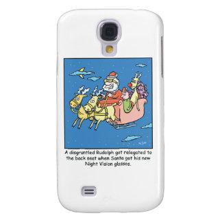 Christmas Cartoon Santas Night Vision Glasses Samsung S4 Case