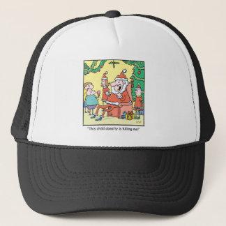 Christmas Cartoon Santas Obesity Problems Trucker Hat