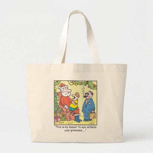 Christmas Cartoon Santa's Promises Canvas Bags