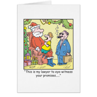 Christmas Cartoon Santa's Promises Greeting Card
