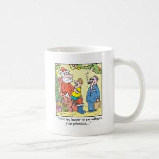 Christmas Cartoon Santa's Promises Coffee Mug