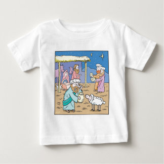 Christmas Cartoon The Three Wise Kings Baby T-Shirt