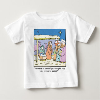 Christmas Cartoon Three Wise Kings Computer Games Baby T-Shirt