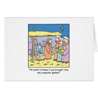 Christmas Cartoon Three Wise Kings Computer Games Greeting Card