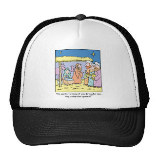 Christmas Cartoon Three Wise Kings Computer Games Trucker Hat