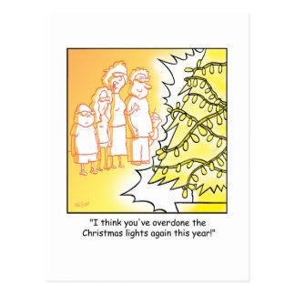Christmas Cartoon Tree Decorations Postcard