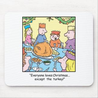 Christmas Cartoon Turkey Dinner Mouse Pad