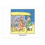 Christmas Cartoon Ugg Boots Post Card
