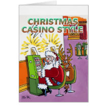 Christmas Casino Style cartoon greeting card