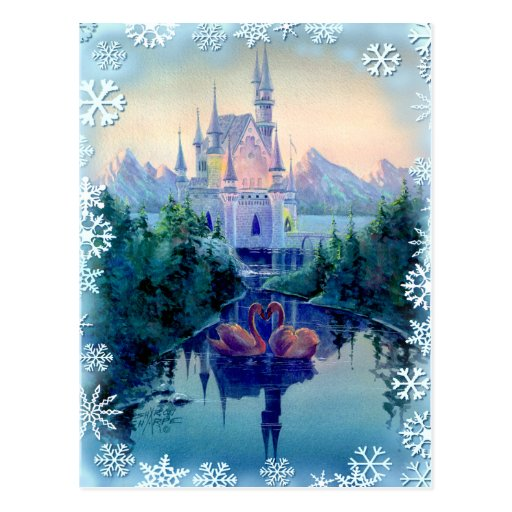 CHRISTMAS CASTLE by SHARON SHARPE Post Cards
