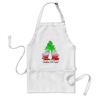 Christmas Cat Adult Apron