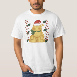 Christmas Cat And Holly Christmas T-Shirt
