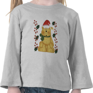 Christmas Cat And Holly Toddler Christmas T-Shirt