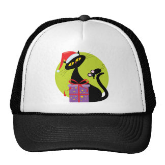 Christmas Cat and Mouse Trucker Hat