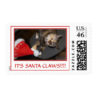 Christmas Cat Attack II postage