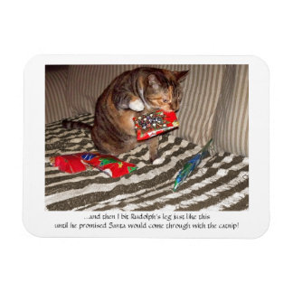 Christmas Cat Attack Flexible Magnet