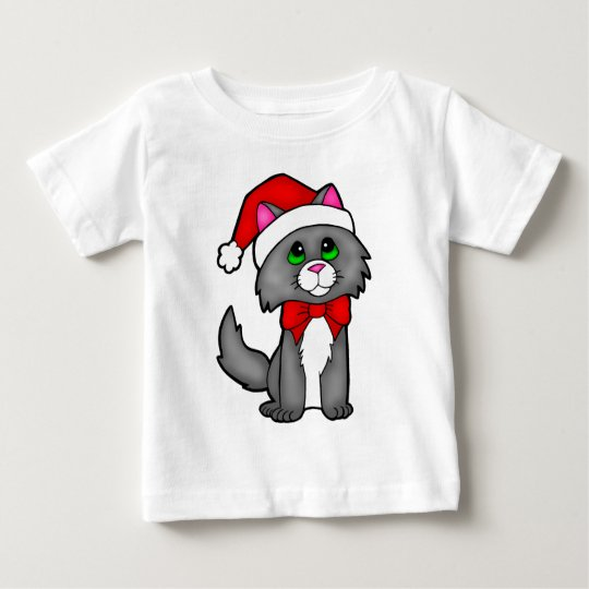Christmas Cat Baby T-Shirt