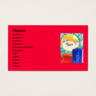 Christmas Cat Business Card