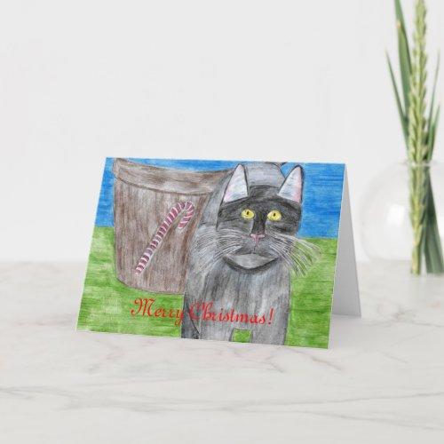 Christmas Cat Card Designed by Julia Hanna card