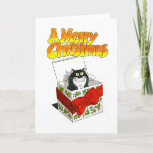 christmas cat card jack in a box - Jack In The Box Open On Christmas