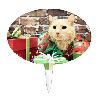 Christmas - Cat - Casillas Oval Cake Topper