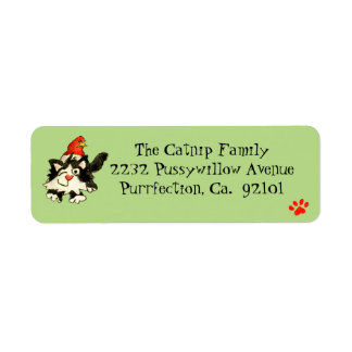 Christmas Cat Custom Return Address Labels