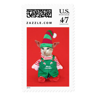 Christmas Cat Elf Postage