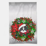 Christmas Cat Hand Towels