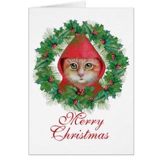 Christmas Cat Holiday Card