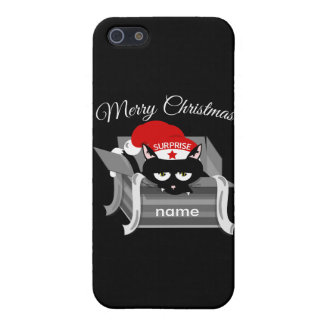 Christmas Cat in a Gift Box Case For iPhone SE/5/5s