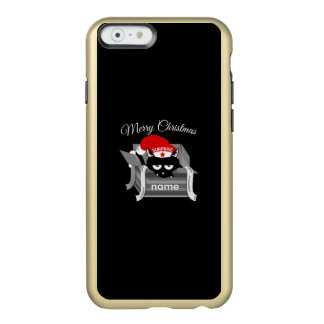Christmas Cat in a Gift Box Incipio Feather Shine iPhone 6 Case
