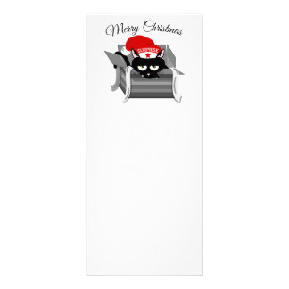 Christmas Cat in a Gift Box Rack Card