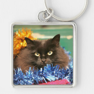 Christmas Cat Keychain
